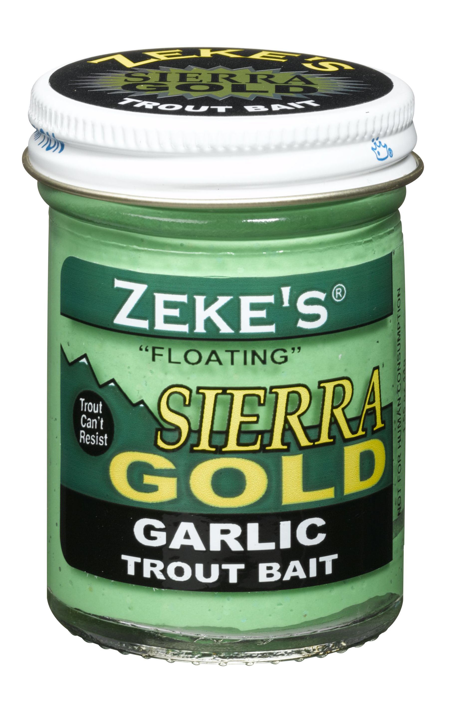 0918 Zeke's Sierra Gold Floating Trout Bait - Garlic/Spring Green