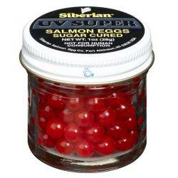 110 Siberian UV Super Salmon Eggs Fluorescent Red