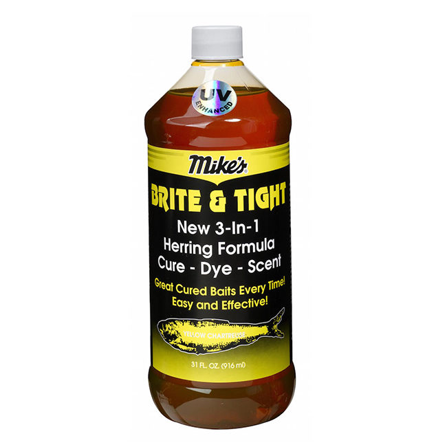 13003 Mike's Brite & Tight Herring Formula Yellow Chartreuse