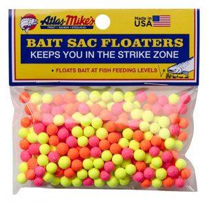 Steelhead Accessories: 99008 Atlas Mike's Bait Sac Floaters Assorted