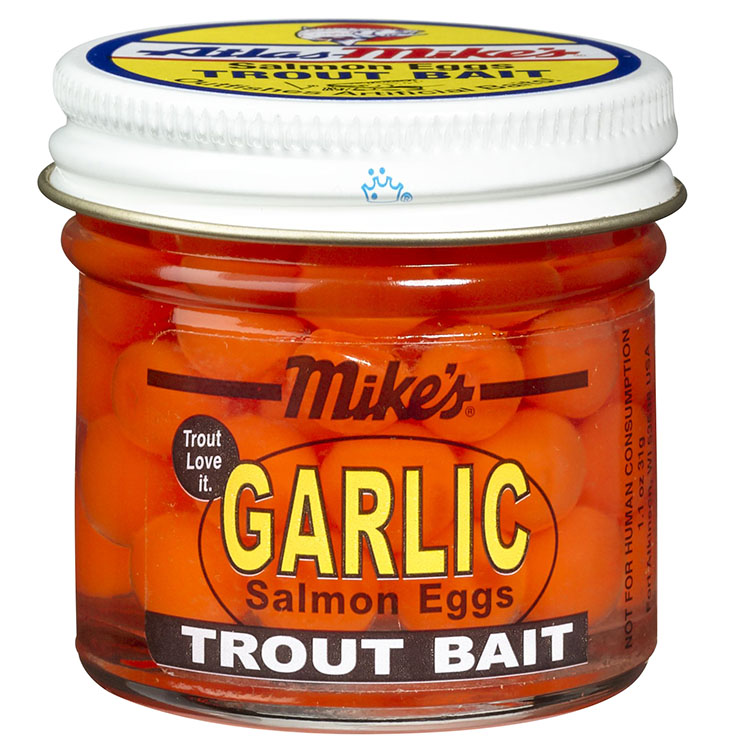 1033 Mike's Garlic Salmon Eggs - Orange